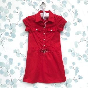 Tommy Hilfiger Kids Red Nautical Dress